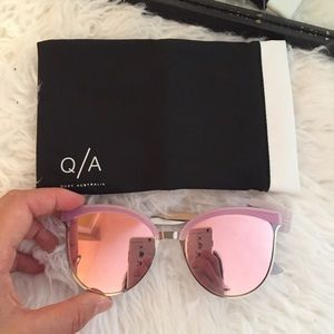 Quay Australia 56 mm cat eye sunglasses